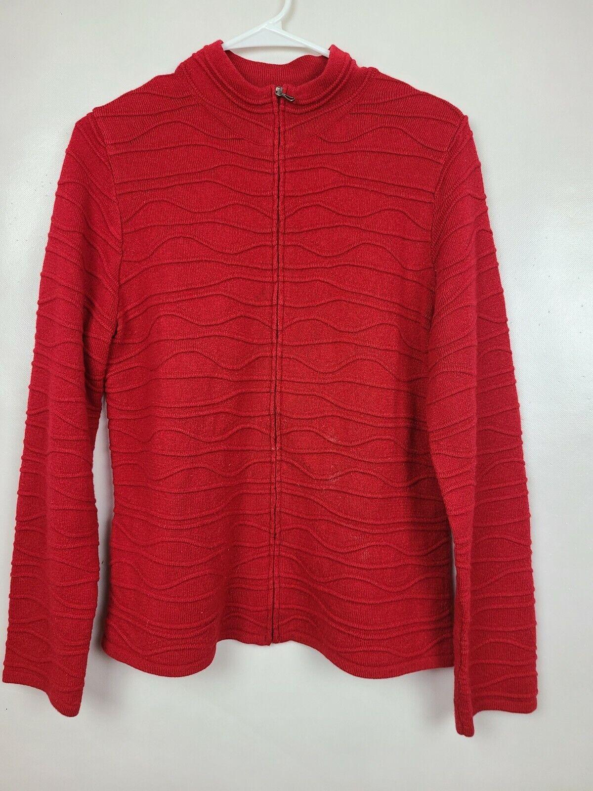 Coldwater Creek Womens Cardigan Sweater Medium Re… - image 1