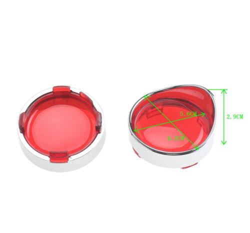 Black Turn Signal Lens Lenses /& Visor Harley Sportster Softail Custom Cruiser US