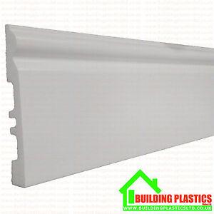 Pvc Skirting Board White Plastic 140mm X 2 9 Metres Long Ebay