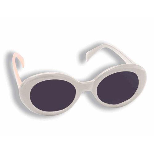 Jackie O White Sunglasses Onassis Kennedy Mod Kurt Cobain Nirvana Grunge Round