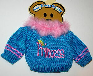 Princess-Theme-Plush-Teddy-Bear-Knit-Sweater-Outfit-fits-11-13-inch-New