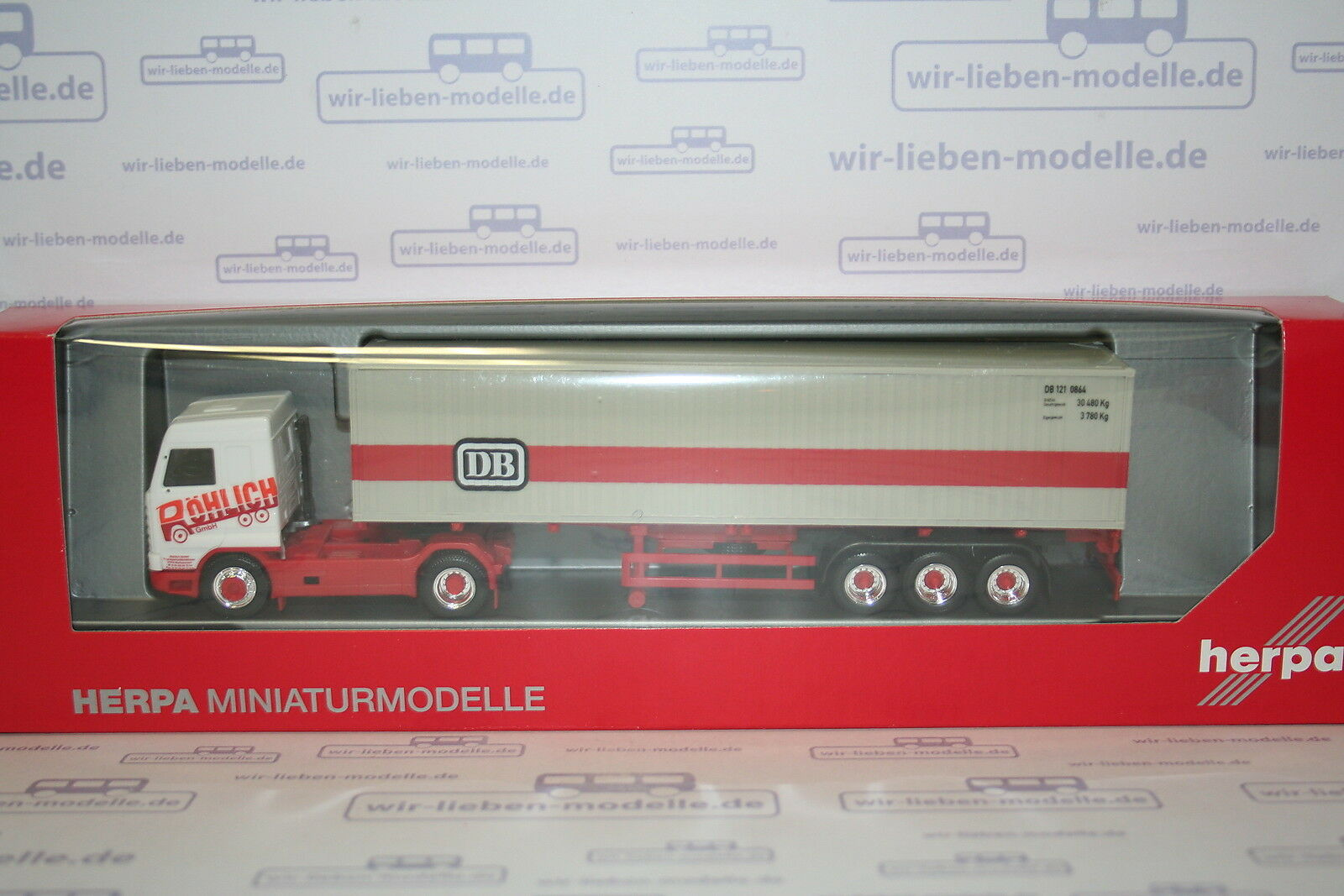 Herpa LKW Scania 3 SL Streamline Cont-Sz Röhlich Evergr