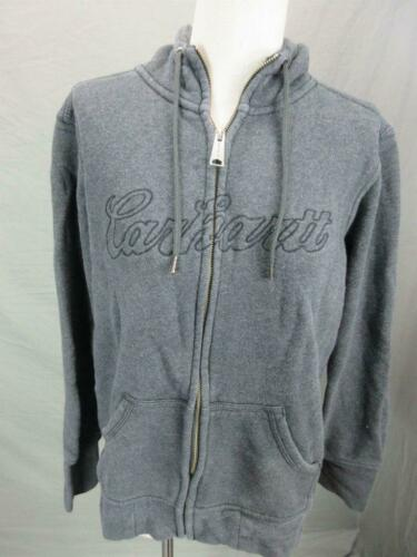 CARHARTT SIZE L WOMENS GRAY FULL ZIP COTTON LINED
