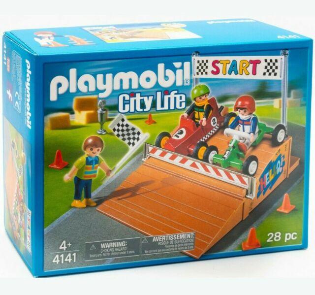 Playmobil 4141 Transport Set GoCart Race Compact Set