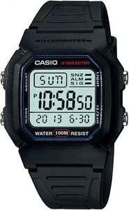 CASIO-WATCH-SWIMMING-100-METRES-WATER-RESISTANT-VINTAGE-RETRO-W-800H-1AV