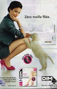 Publicité advertising 2011 Les Collants Dim