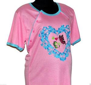 % Sale % -ausverkauf-schwangerschaft/still-nachthemd Kurzarm Gr.s...2xl Farbwahl Heller Glanz