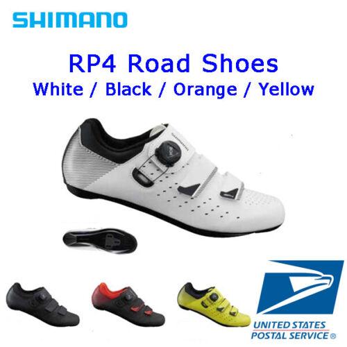 Shimano SH SH-RP4 Cycling Shoes Black White Orange Yellow for Road Bike