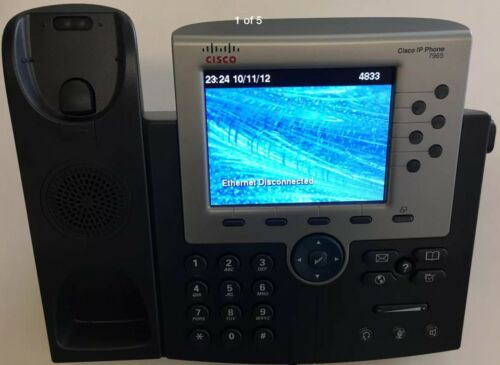 """Cisco 7965 Unified IP Phone 5/"""" TFT Color Display Gray"""