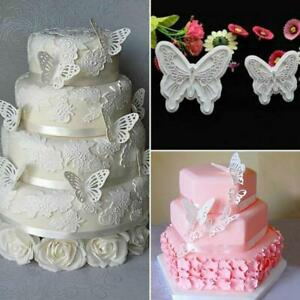 2Pcs-Set-Butterfly-Cake-Fondant-Sugarcraft-Mould-Cookie-Plunger-Cutter-Mold-New