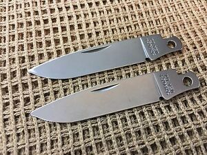 Details about Lot of 2 5UH LTD Schrade USA Folding Knife Making Replacement  Blade Blanks