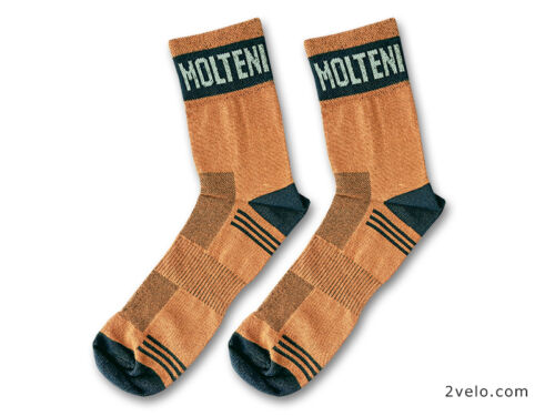 retro size 43-46 MOLTENI cotton cycling socks