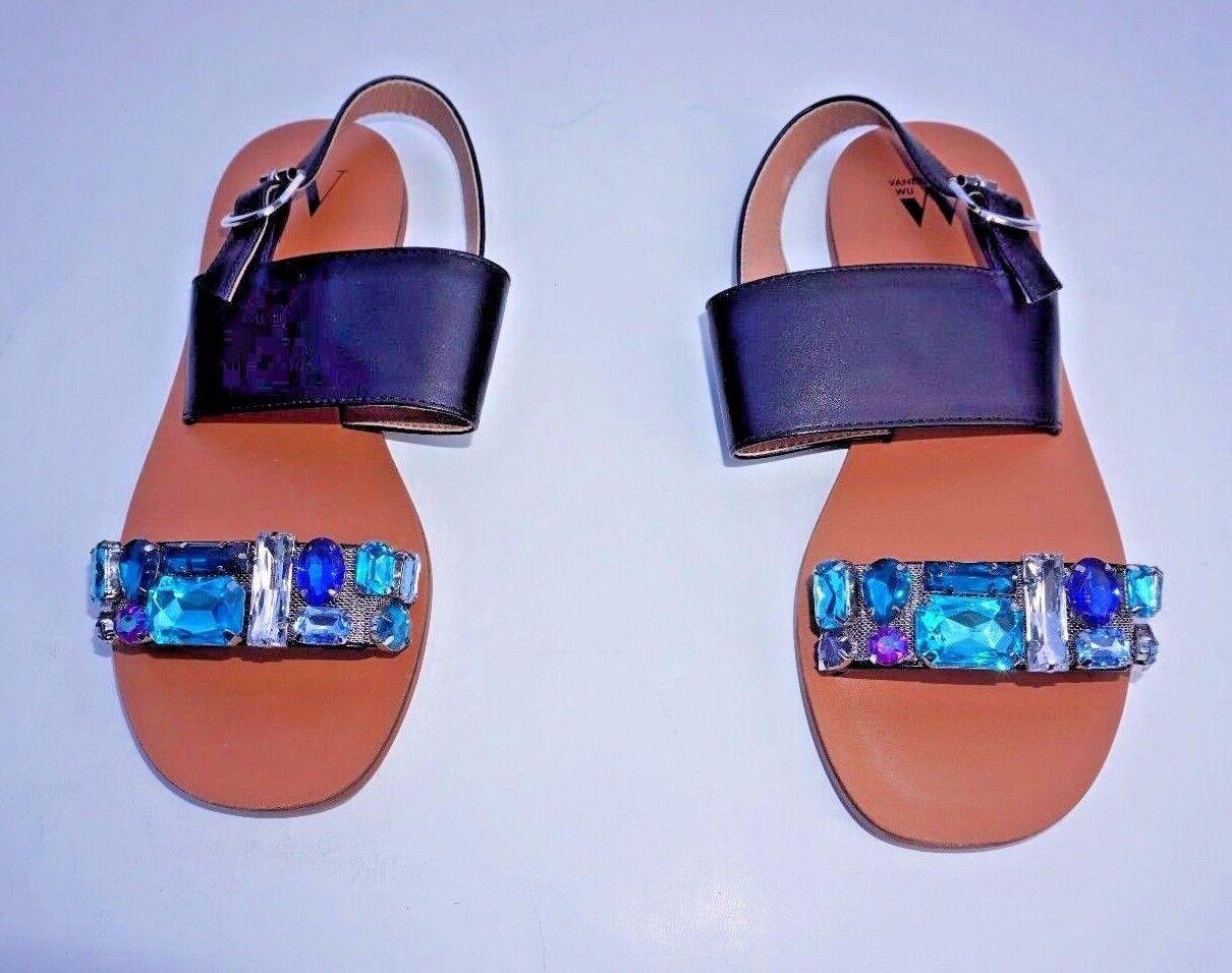 Vanessa Wu Embellished 37/7 Slingback Sandales Größe 37/7 Embellished US NWOB a4bfae