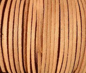 De 10 A 180 Metros Antelina 3mm Cinta Cordon Marron Claro Pulseras (ant3-33) Saveur Aromatique