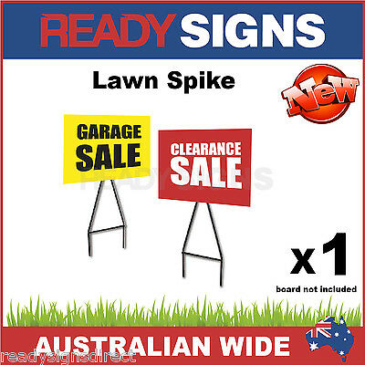 Lawn Spike Sign Frame  - Wire Sign Stake for Corflute Signs - Ready Signs