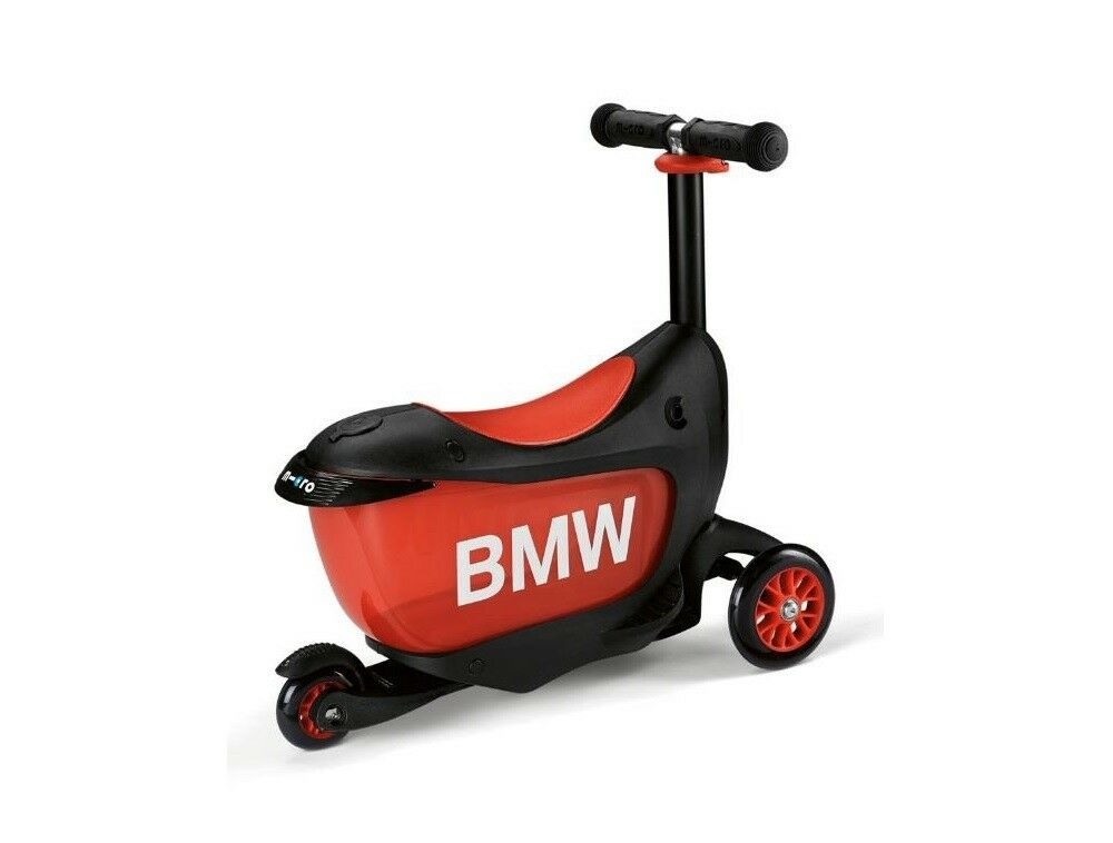 Originale BMW Bambini Scooter Monopattino per Bambino Tre Ruote Nero