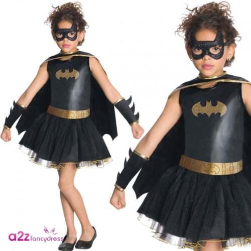 Batgirl Tutu Dress Costume Girls Official Licensed Superhero Fancy Dress Outfit