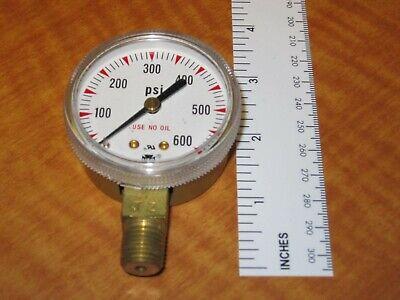 """0-600 PSI  2/"""" Dial 1//4/""""NPT Brass Pressure Gauge US Gauge NEW"""