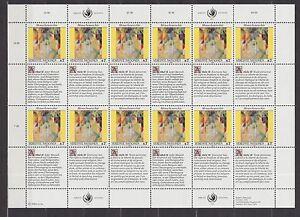 UNO-Wien-1991-postfrisch-MiNr-123-124-Bogensatz-Menschenrechte