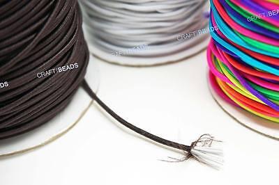 2mm Nylon Coated Round Elastic Cord Stretch Beading Mala String - 40yards Spool
