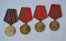 Soviet Jubilee award Medal Lot of 4 USSR Army Victory WWII order Russian badge