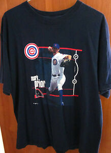 60b95a4ea CHICAGO CUBS logo pitcher Mark Prior 2003 large T shirt baseball  22 ...