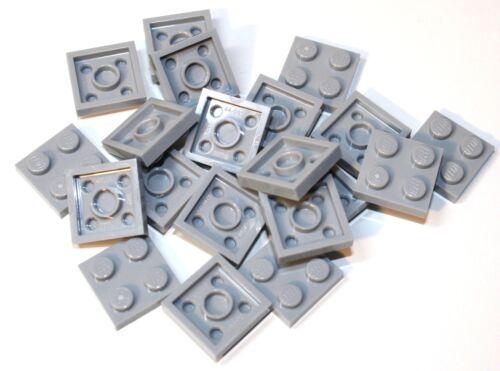 20x LEGO®  Platte 2x2 3022 NEU hellgrau light bluish gray md stone