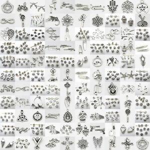 100-Kind-Tibetan-Silver-Retro-Style-Charm-Pendants-Alloy-Connectors-Spacer-Beads