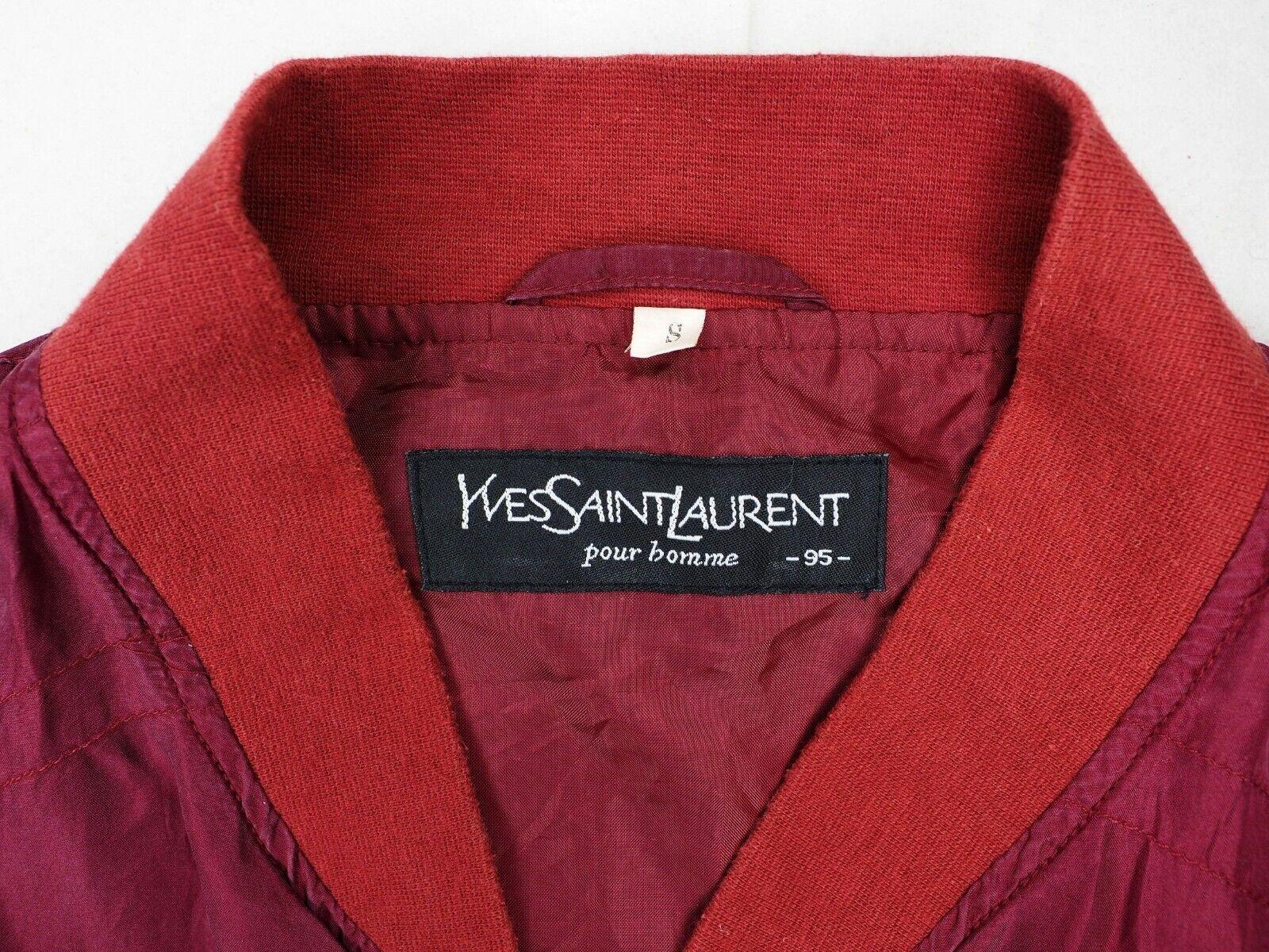 YSL Yves Saint Laurent bomber jacket short coat w… - image 4