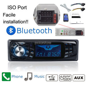 1 din bluetooth st r o autoradio fm aux usb mp3 r cepteur radio mains libres ebay. Black Bedroom Furniture Sets. Home Design Ideas