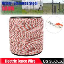 500m Stainless Steel Electric Fence Trident Poly Livestock Fence Wire Whiteampred