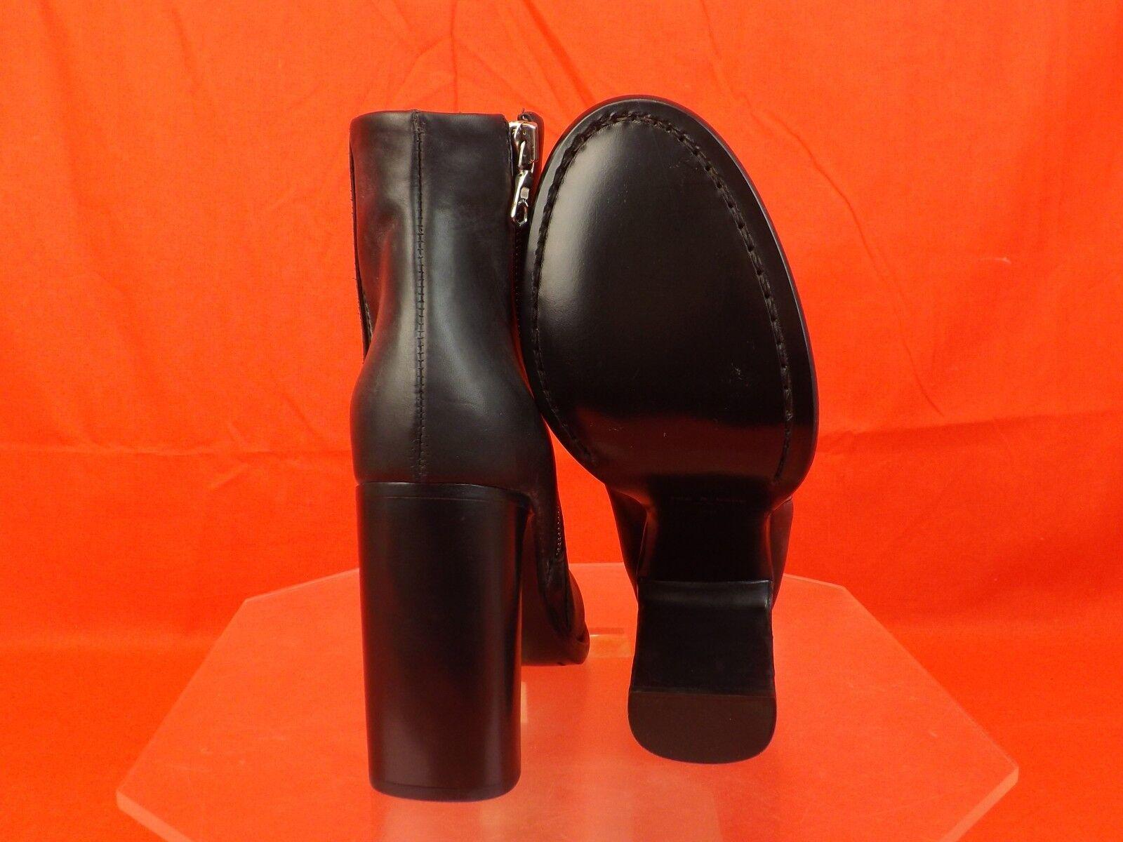 NIB RAG&BONE BLACK DISTRESSED LEATHER ZIP AVERY HIGH HIGH HIGH BOOTS 40  570 d2dc36