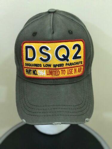 "Dsquared 2 DSQ2 Vert Kaki Casquette De Baseball Snapback Chapeau /""à faible vitesse PARACHUTE/"""