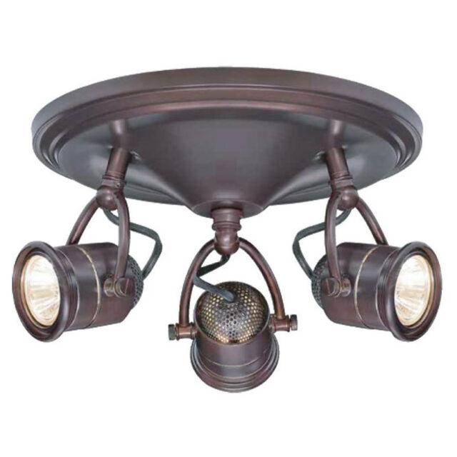 Hampton Bay Ceiling Round Hanging Track Light Lighting Fixture 3 ...