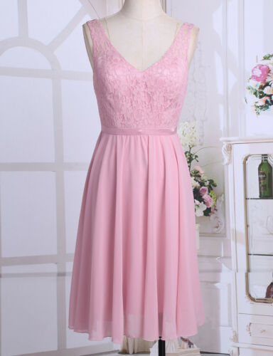 Women Formal Long Lace Cocktail Prom Evening Party Bridesmaid Wedding Gown Dress
