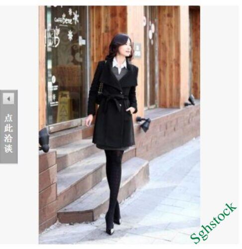 casual lana donna elegante Parka Slim Fit inverno Moda misto cintura Nuovo cappotto zZB1Rq
