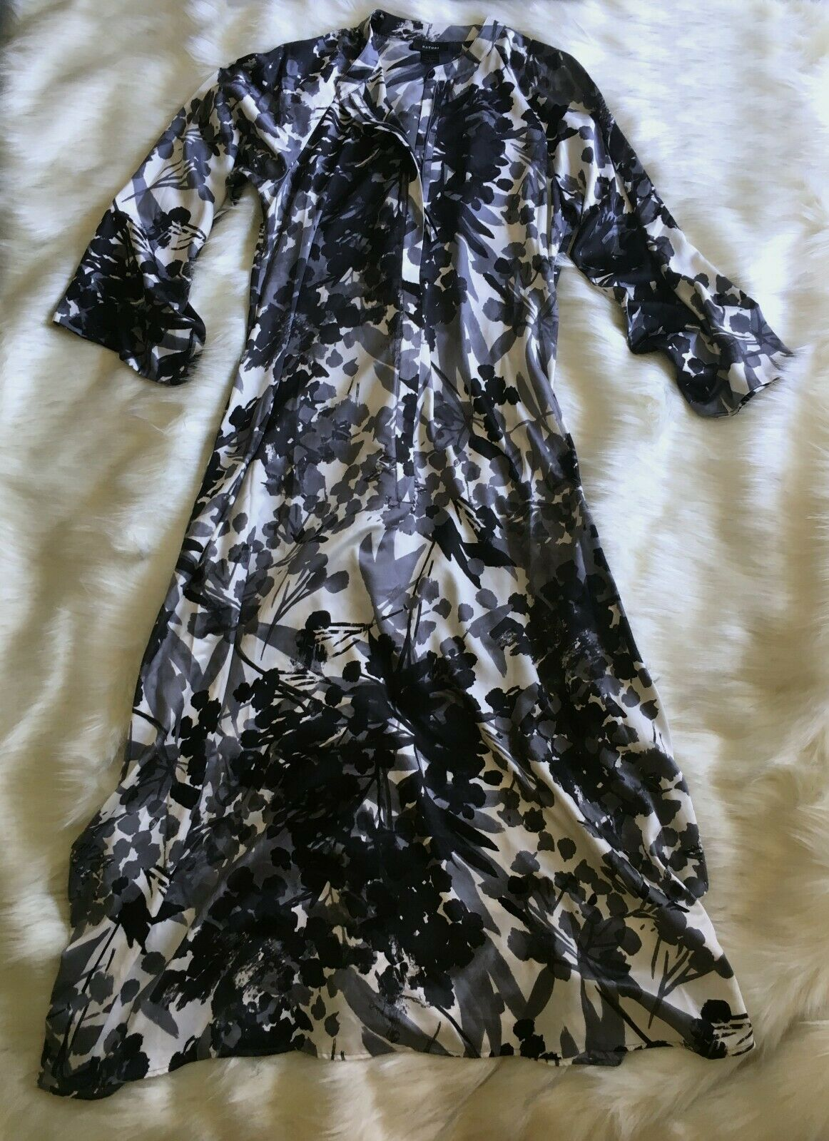Lady's Natori Abstract Floral Caftan. Neuf Avec out Tag, taille M.