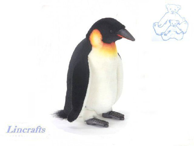 Emperor Penguin Plush Soft Toy Bird by Hansa from Lincrafts. 3159