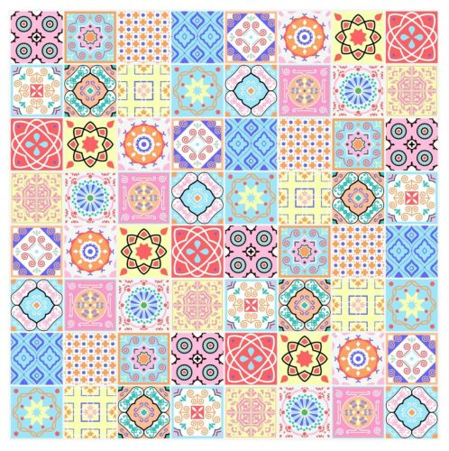 """Mosaic Pattern Stickers Transfers For 150mm x 150mm /& 6/"""" inch Square Tiles GT05"""