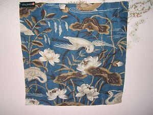 Lee jofa gp j bakerheron lotus flower fabric remnant various image is loading lee jofa gp amp j baker 034 heron mightylinksfo
