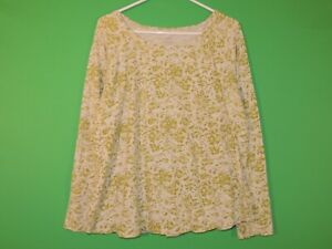 J-Jill-Womens-Size-XL-Extra-Large-Floral-Long-Slv-Crewneck-Shirt-Top