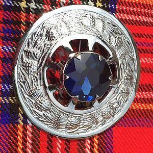 Kilt-Mouche-Plaid-Broche-Pierre-Bleue-ecossais-Broche-Broches-pins