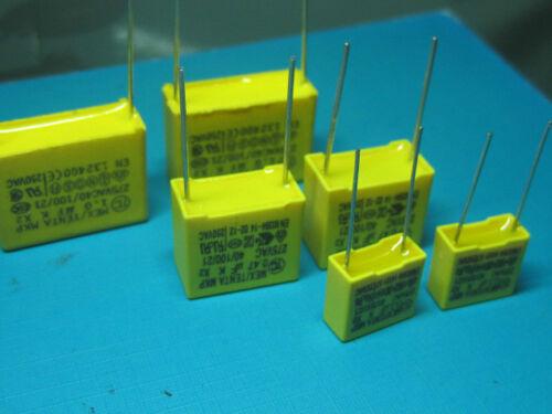 X2 Polypropylene safety capacitors 104 0.1uF 100nF 275VAC  k  5PCS