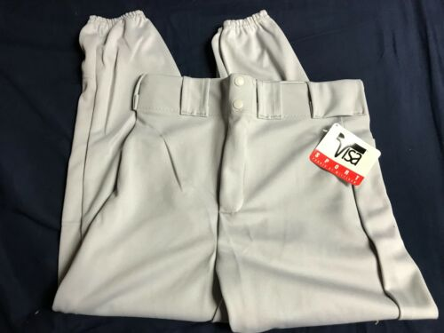 LOT of 4 Pair Visa Sports Latrell Adult Softball Pants Gray Size Medium  NEW