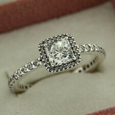 e378aff42 Authentic Pandora 190947CZ-58 Timeless Elegance CZ Size 8.5 Sterling Silver  Ring