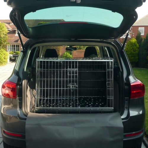 PET WORLD VW VOLKSWAGEN TIGUAN SLOPING CAR DOG CAGE BOOT TRAVEL CRATE PUPPY