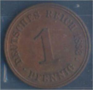 German-Empire-Jagerno-10-1893-A-ext-fine-Bronze-1893-1-Pfennig-Eagle-7849003