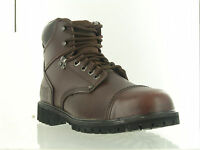 Rugged Blue Rb2 Steel Toe Work Boots - Brown