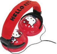 Hello Kitty 35009 Foldable Plush Stereo Headphones By Sakar Free Shipping
