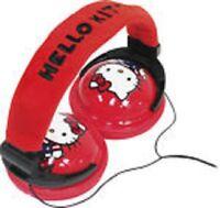 Hello Kitty 35009 Foldable Plush Stereo Headphones By Sakar Free Shipping